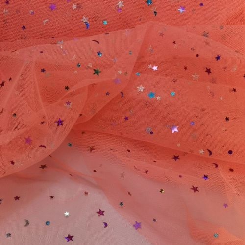 Sparkle Tulle |Neon Orange | K36A-W133 | 54""